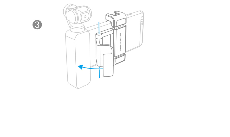 OSMO-POCKET-手机固定支架plus+安装说明细节分析