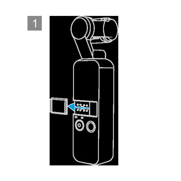 OSMO POCKET-数据口转冷靴口通用接口-安装说明-第一步
