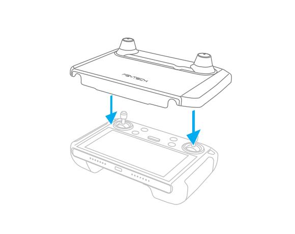 带屏遥控器保护罩-安装说明-第二步