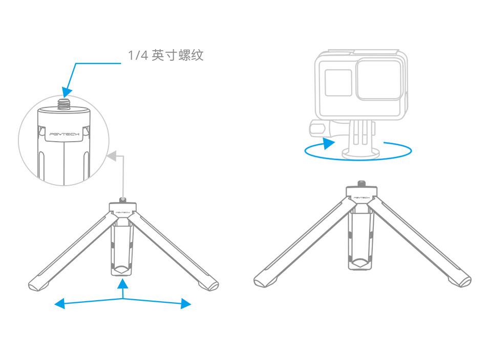 OSMO-POCKET-L型转接支架+安装说明细节分析