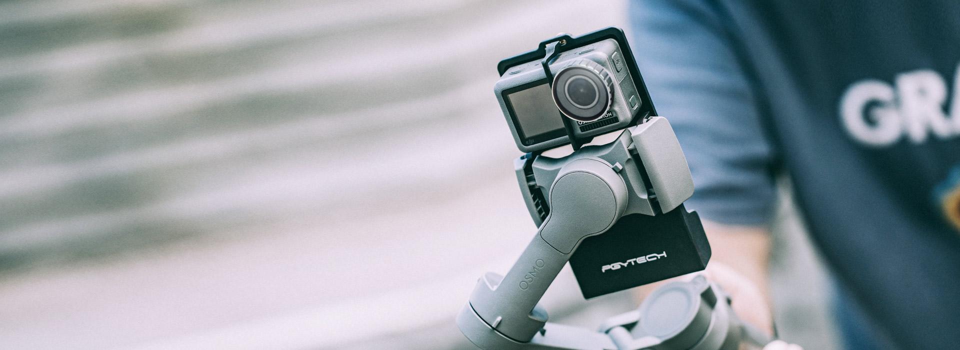 运动相机手机云台适配器+-海报